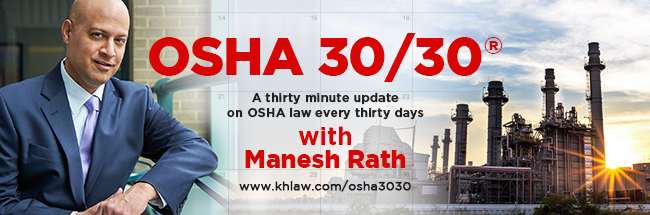 OSHA 30/30 with Manesh Rath
