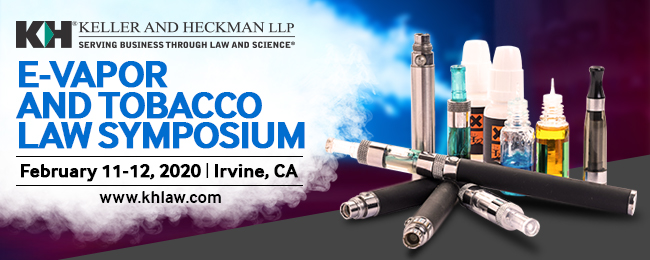 Banner for E-Vapor and Tobacco Law Symposium