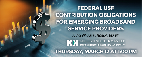 Banner for Federal USF Contribution Webinar
