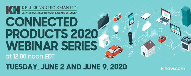 Banner for Connected Products 2020 Webinar Series