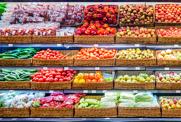 Produce in a store